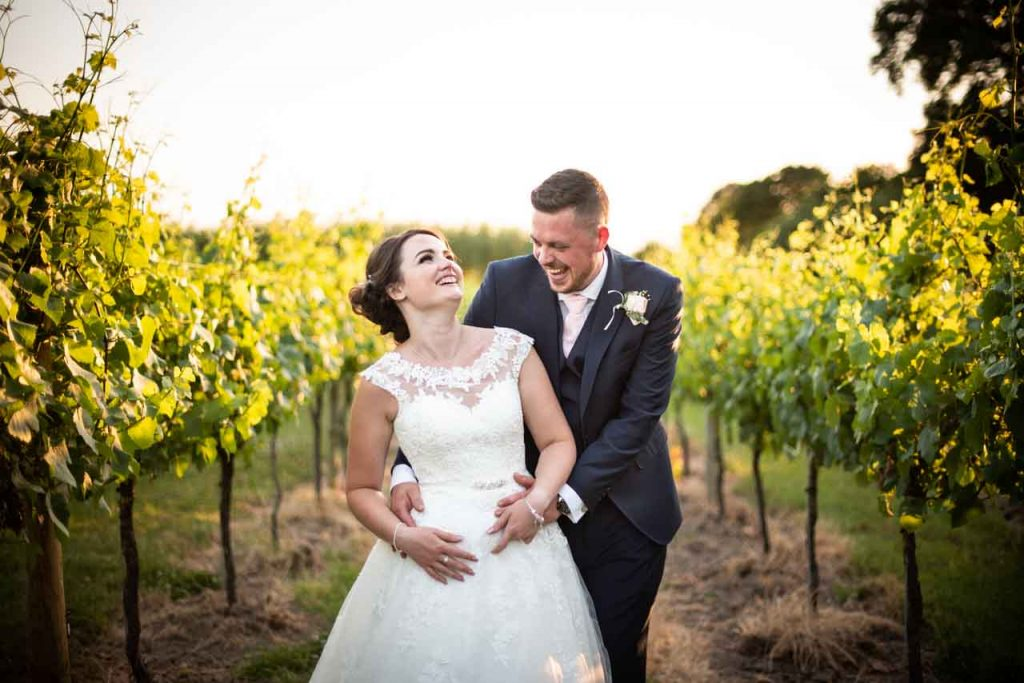 bride and groom at aldwick court farm